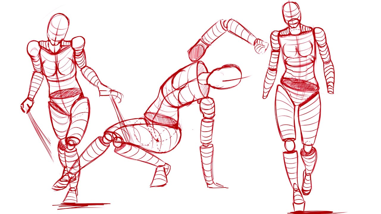 awe How to draw poses better (male and female poses for beginners)