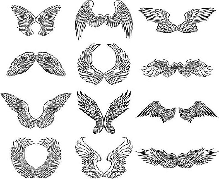 Tutorials On How To Draw An Angel Face Wings Body