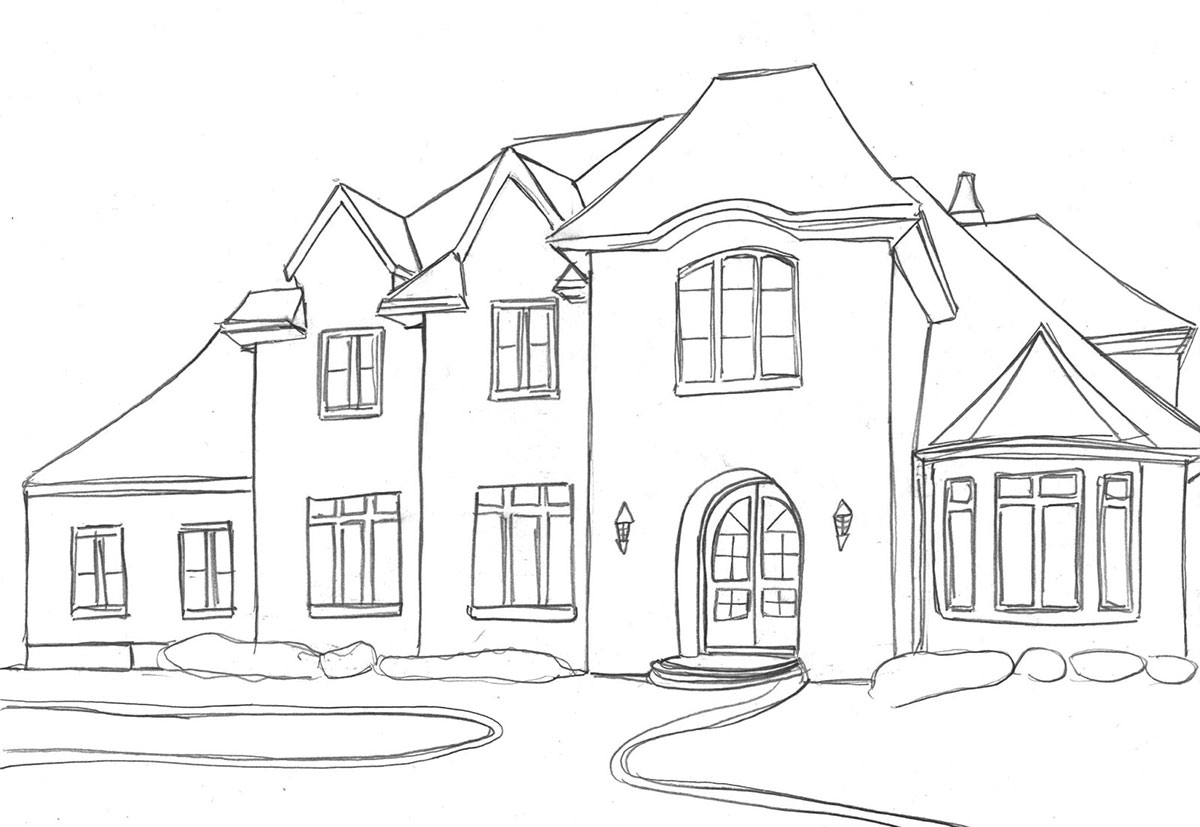 How To Draw A House Drawing Tutorials To Help You Sketch