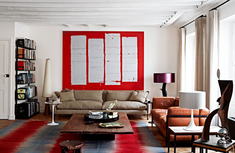 red living room ideas pictures