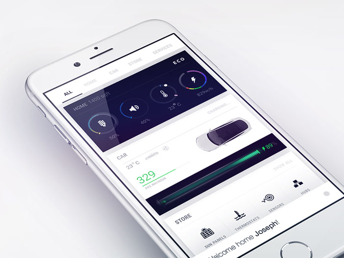 Mobile dashboard design android and ios ui examples - Design my home app ...