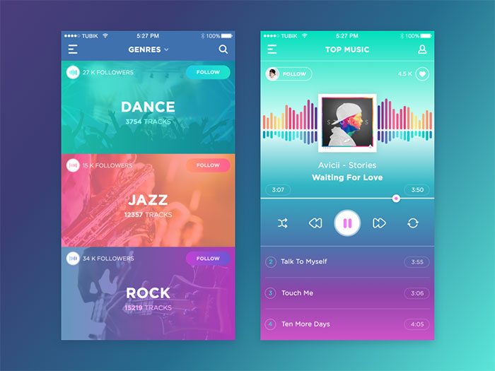25 ui designs which follow the latest design trends for Room design web app