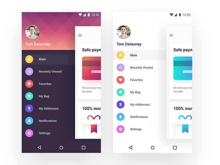 Dribbble 1 Mobile Menu Design User Interface Examples 33 Menus