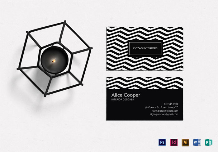 Best business card designs 300 cool examples and ideas black and white business card template 1 best business card reheart Image collections