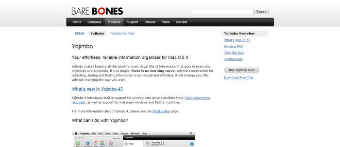 Bare-Bones-Software-I-Yojimbo-https___www.barebones Evernote alternatives - 14 competitors to use instead