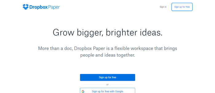Dropbox-Paper-https___www.dropbox Evernote alternatives - 14 competitors to use instead