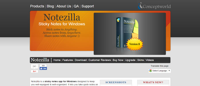 Notezilla_-Sticky-Notes-for-Windows-1_-http___www.conceptworld Evernote alternatives - 14 competitors to use instead