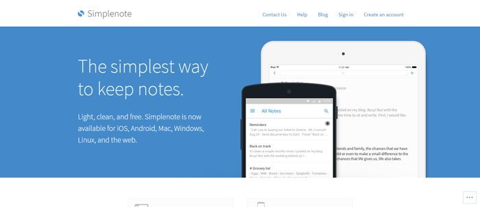 Simplenote-https___simplenote Evernote alternatives - 14 competitors to use instead