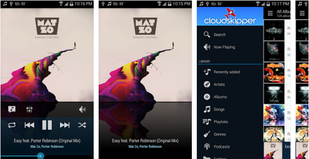 Cloudskipper-Music-Player Best Android music player apps to listen to music on them