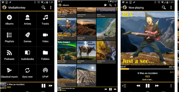 Media-Monkey Best Android music player apps to listen to music on them