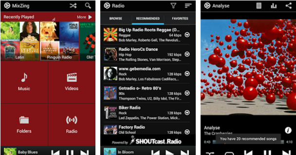 MixZing Best Android music player apps to listen to music on them
