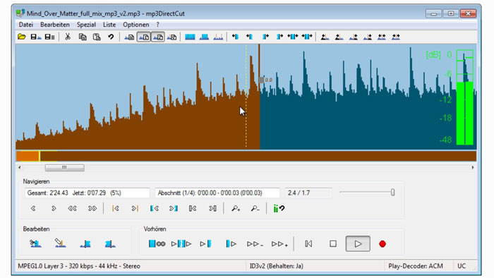 Mp3DirectCut-1 Audio editing software: The best free and premium options
