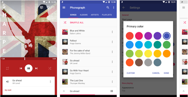 Phonograph Best Android music player apps to listen to music on them