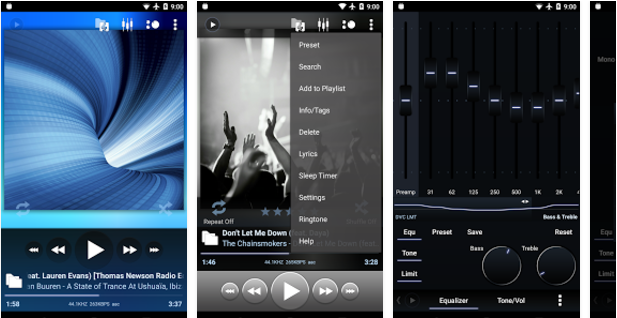 Poweramp Best Android music player apps to listen to music on them