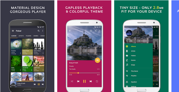 Pulsar Best Android music player apps to listen to music on them