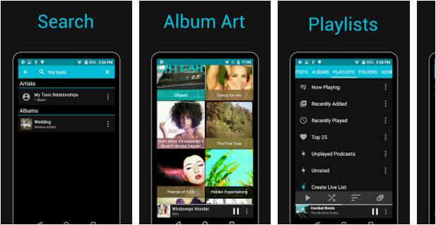 Rocket-Player Best Android music player apps to listen to music on them