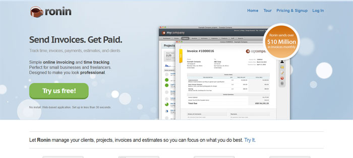 ronin top project management and invoicing tools for designers