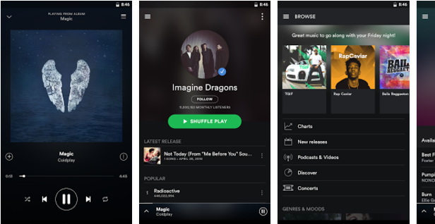 Spotify-Music Best Android music player apps to listen to music on them