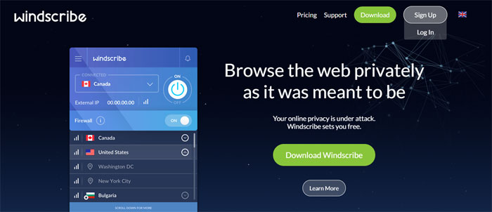 windscribe.com_ Top free VPN software and services you should start using
