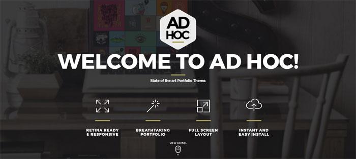 Ad-Hoc-Portfolio Architecture WordPress Themes To Design An Architect's Website