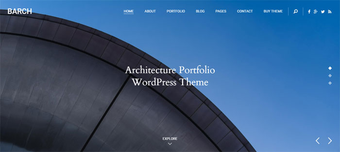 Barch Architecture WordPress Themes To Design An Architect's Website