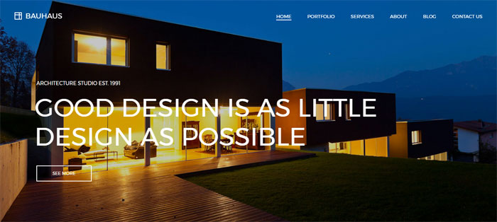 Bauhaus Architecture WordPress Themes To Design An Architect's Website