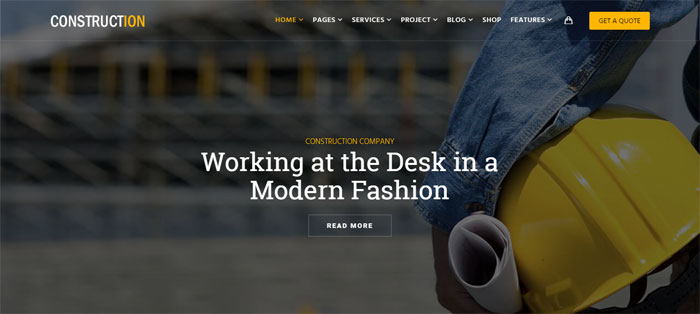 Construction-2 Architecture WordPress Themes To Design An Architect's Website