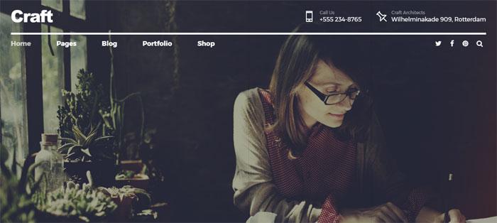 Craft-Portfolio Architecture WordPress Themes To Design An Architect's Website