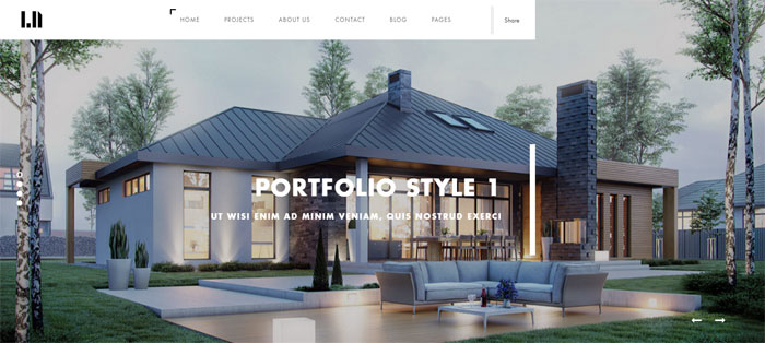 Domik Architecture WordPress Themes To Design An Architect's Website