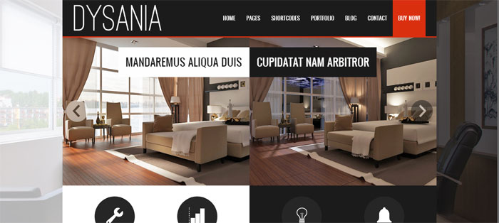Dysania Architecture WordPress Themes To Design An Architect's Website
