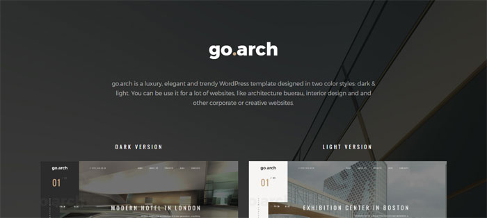 Go.arch_ Architecture WordPress Themes To Design An Architect's Website