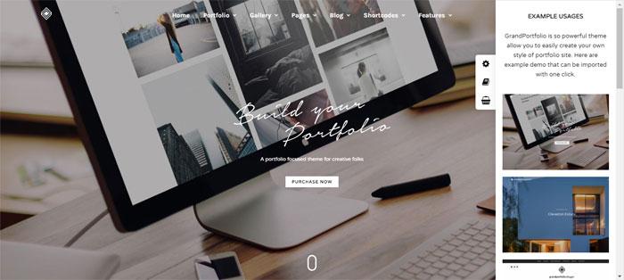 Grand-Portfolio Architecture WordPress Themes To Design An Architect's Website