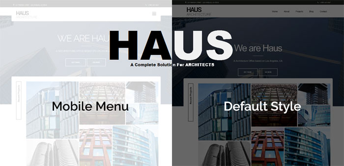 Haus Architecture WordPress Themes To Design An Architect's Website