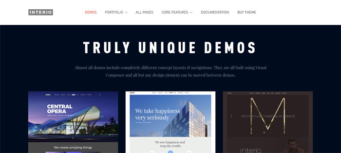 Interio Architecture WordPress Themes To Design An Architect's Website