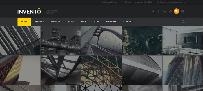 Invento Architecture WordPress Themes To Design An Architect's Website