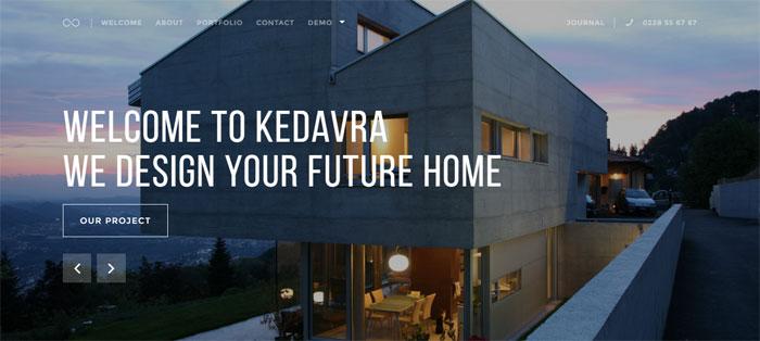 Kedavra Architecture WordPress Themes To Design An Architect's Website