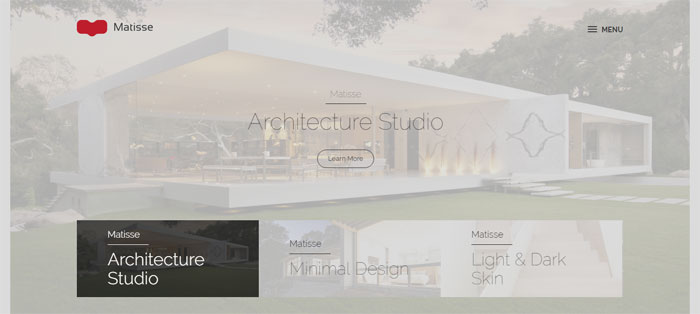 Matisse Architecture WordPress Themes To Design An Architect's Website