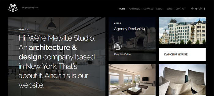 Melville Architecture WordPress Themes To Design An Architect's Website