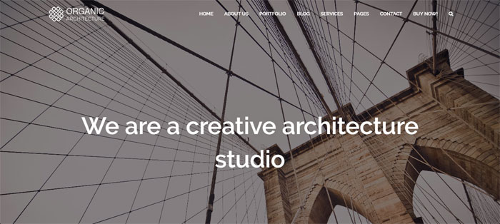 Organic Architecture WordPress Themes To Design An Architect's Website