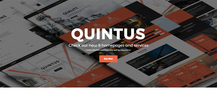 Quintus Architecture WordPress Themes To Design An Architect's Website