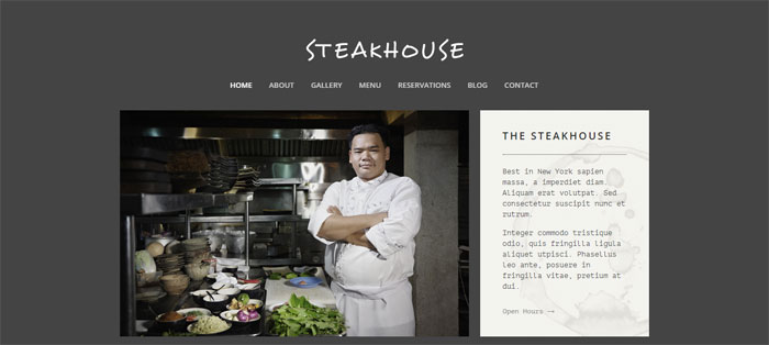 Steakhouse Architecture WordPress Themes To Design An Architect's Website