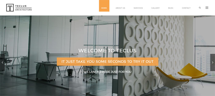 Teclus Architecture WordPress Themes To Design An Architect's Website
