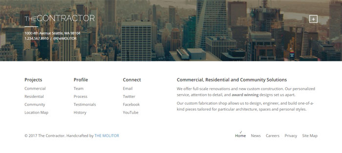 The-Contractor Architecture WordPress Themes To Design An Architect's Website