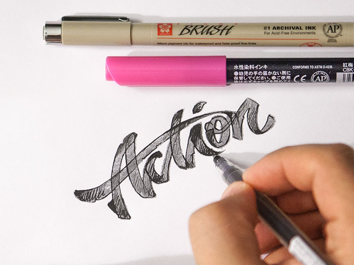 action Calligraphy for beginners - Guide on learning calligraphy