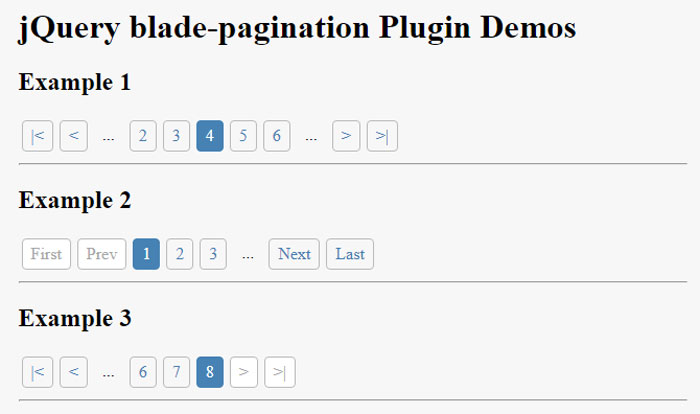 Bootstrap Dynamic Pagination Example