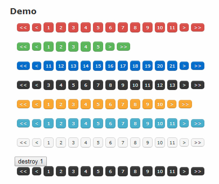 jQuery Pagination Plugins To Download