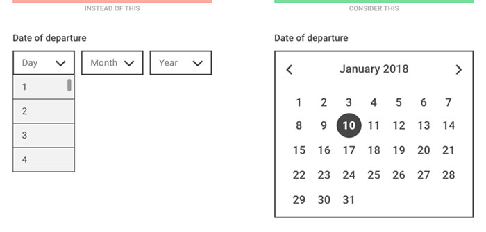 Dropdown alternatives for better (mobile) forms - Every Interaction
