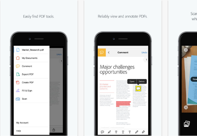 Adobe-Acrobat-Reader iOS productivity apps for iPhone and iPad