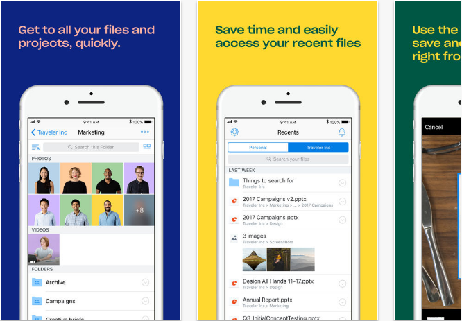 Dropbox iOS productivity apps for iPhone and iPad