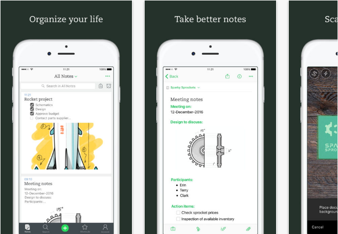 Evernote iOS productivity apps for iPhone and iPad